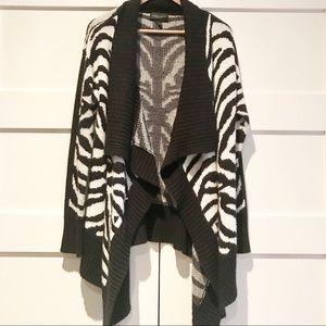Romeo + Juliet open front zebra cardigan